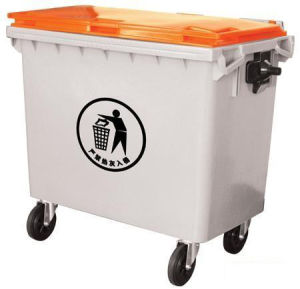 Whitegrey Outdoor Waste Container 660lt with 4 Wheels pictures & photos