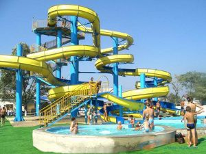 Spiral Water Slide Combination, Customized Water Park Equipment