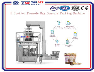 Automatic Feeding and Premade Bag Candy Chococlate Nuts Packing Machine pictures & photos