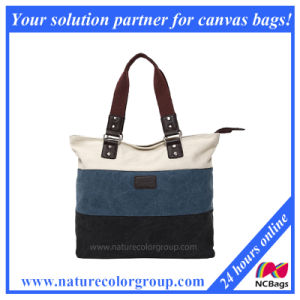 Trendy Canvas Tote Handbag for Ladies