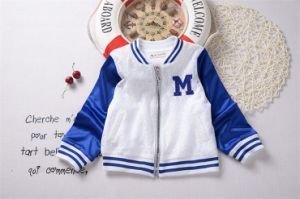 T1206 High Quality Unique Design Fashion Girl Popular Short Baseball Jacket Leisure Casual Coat Kids Outerwear for Wholesale pictures & photos