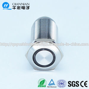 Qn12-D5 12mm Flat Ring LED Latching with Wire Push Button Switch pictures & photos