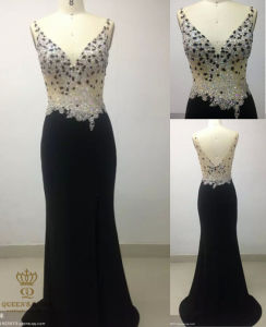 Night Wear! Heavy Beaded on The Bodice Evening Gown