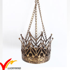 Hanging Golden Crown Metal Tealight Candle Holder pictures & photos