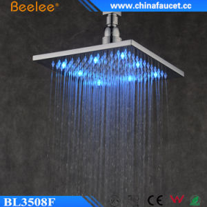 Brass High Pressure LED Ceiling Shower Head