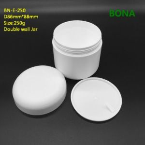 250g White Plastic Doule Wall Cream Jar pictures & photos