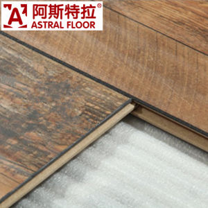 WPC German Technology 12mm/8mm HDF Handscraped Grain Laminate Flooring pictures & photos