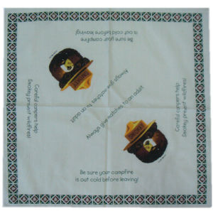Wholesale Cheap Custom Cotton Square Smokey Bear Bandanas pictures & photos