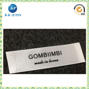 Hot Custom Private Label Clothing Manufacturers/Satin Label/Size Label (JP-CL095) pictures & photos