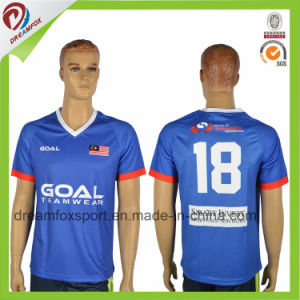 8d3787a2f96 China Cheap Sublimation Custom 100% Polyester Striped Soccer Jersey ...