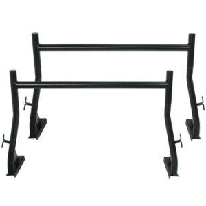 650 LB 2-Bar Adjustable Truck Ladder Rack Pick Up Universal Lumber Kayak Utility