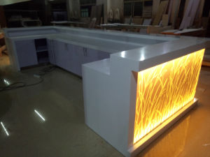 Decoration Restaurant Bar Furniture Design Modern Restaurant Coffee Counter U Shaped Bar Counter pictures & photos