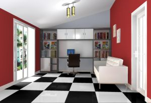 Super White Polished Ceramic Floor Tile