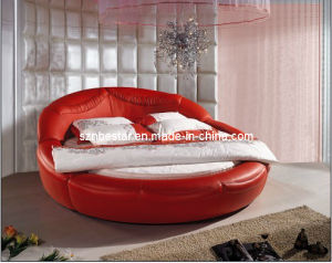 2015 Hot Sets Bed Room Furniture Round Bed for Lovely Girls (BST6013) pictures & photos