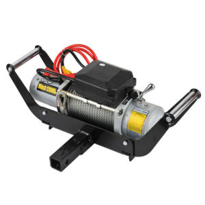 Self Recovery 4X4 Electric Winch Power Tool 12000lbs with Metal Control Box
