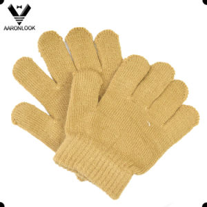 Winter Plain Solid Color Acrylic Magic Baby Glove