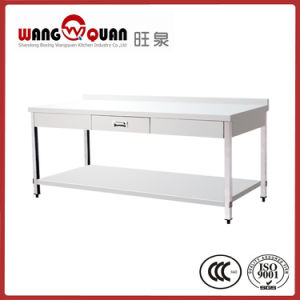 Stainless Steel Worktable 2 Tier with Undershelf & 1 Drawer pictures & photos
