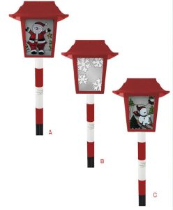 Solar Xmas Glass Lantern with 1 White LED pictures & photos