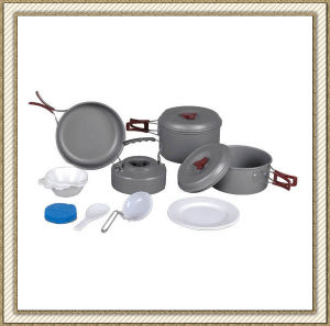 Outdoor Camping Aluminum Cookware (CL2C-DT1915-6) pictures & photos