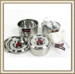 Stainless Steel Wild Camping Cookware Set (CL2C-DT05) pictures & photos