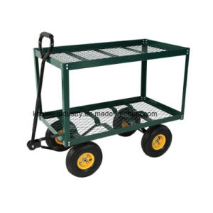 Double Deck Garden Work Cart/Steel Wire Mesh Cart (TC4204A) pictures & photos