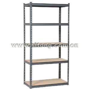 Z-Beam Rivet Locked Five-Shelves Steel MDF Storage Rack or Workbench (MDF-05) pictures & photos
