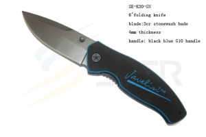 "6""3cr Stonewash Bade Folding Knife with G10 Hanlde (SE-880) pictures & photos"