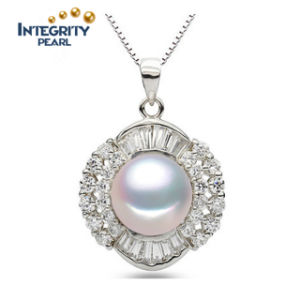 10-11mm Fashion AAA Bread Round Freshwater Original Pearl Pendant