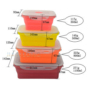 Eco-Friendly Silicone Bento Lunch Box Set