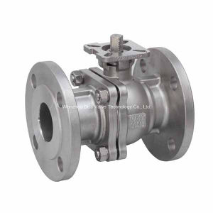 JIS Stainless Steel2PC Flange Floating Ball Valve with ISO5211 Mounting Pad pictures & photos