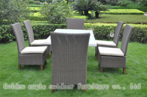 Luxury Waterproof PE Rattan Sofa Wicker Furniture (CP0080)