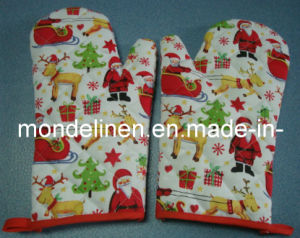 100% Cotton Christmas Oven Mitt (KG--001)