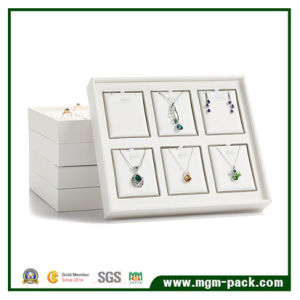Elegant White PU Leather Jewelry Display pictures & photos