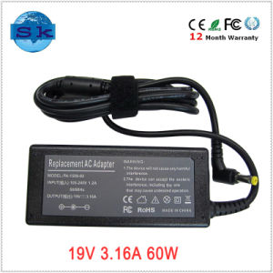 19V 3.16A 60W Adaptor Switching for Fujitsu Lifebook A4190 T4020 T4210