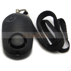 Factory Price Black Lady Personal Alarm Anti-Theft Alarm with Bright LED Light pictures & photos
