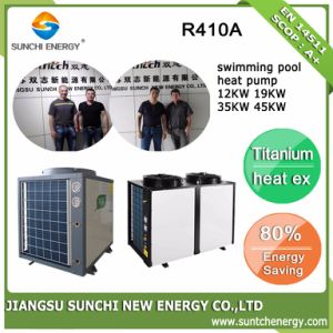 All Weather Thermostat 32deg. C for 25~256cube Meter Warm Water 12kw/19kw/35kw/70kw Titanium Tube Cop4.62 Swimming Pool Heat Pump pictures & photos