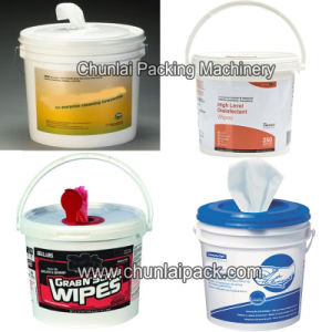 Wet Tissue Bucket Filling and Sealing Machine pictures & photos