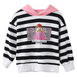 Hot Sale Casual Cheap Kid′s Printed Striped Hoodie