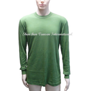 Interlock Thermal Underwear Set in Olive Green pictures & photos