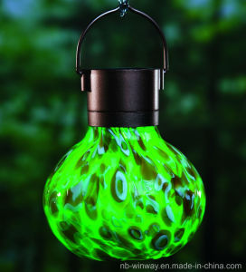 Weather Glass Solar Lava Lantern pictures & photos