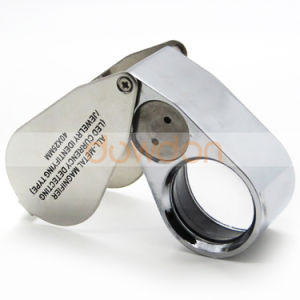 40X 25mm All Metal Magnifier Jeweler LED UV Lens jewellery Loupe Magnifier LED Currency Detecting Magnifier pictures & photos