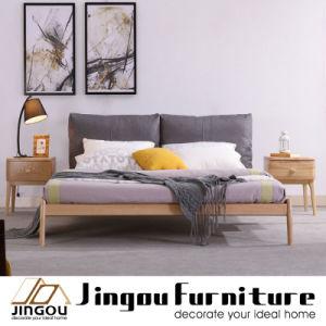 Modern Wooden Bedroom Furniture Set Solid Wood Bed for Home