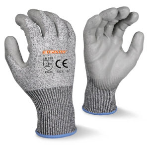 Ce En388 Cut 5 Cut Resistant PU Palm Coated Gloves