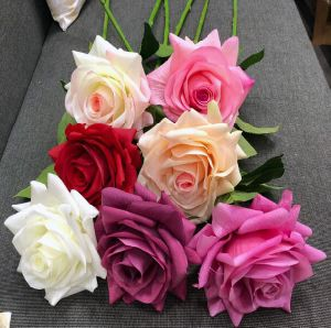 Wholesale Artificial Real Touch Rose Flower for Wedding Decoration