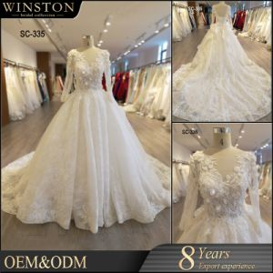 883c973712d China 2018 Ball Gown Prom Evening Lace Ivory Bridal Wedding Dresses ...
