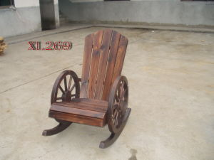 Burnt Cedar Patio Rocking Chair Outdoor Leisure Chairs