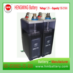 Hengming NiCd Battery Gnc200 1.2V 200ah Kpx Series/Ultra High Rate/Alkaline Rechargeable Battery and Sintered Plate Battery for Generator Set pictures & photos