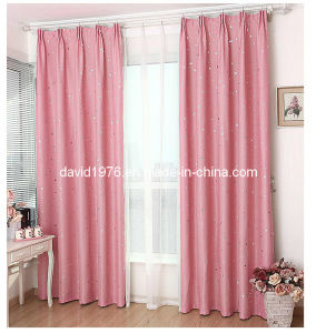 Gold Shiny Blackout Pinch Pleated Window Curtain (SZSMEBP043)