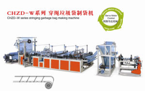 (manufacture) Full Automatic Stringing Garbage Bag Making Machine pictures & photos