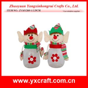 Christmas Decoration (ZY16Y260-1-2 29CM) Happy Christmas Food Jar pictures & photos